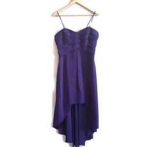 David's Bridal | Hi/Lo spaghetti strap gown